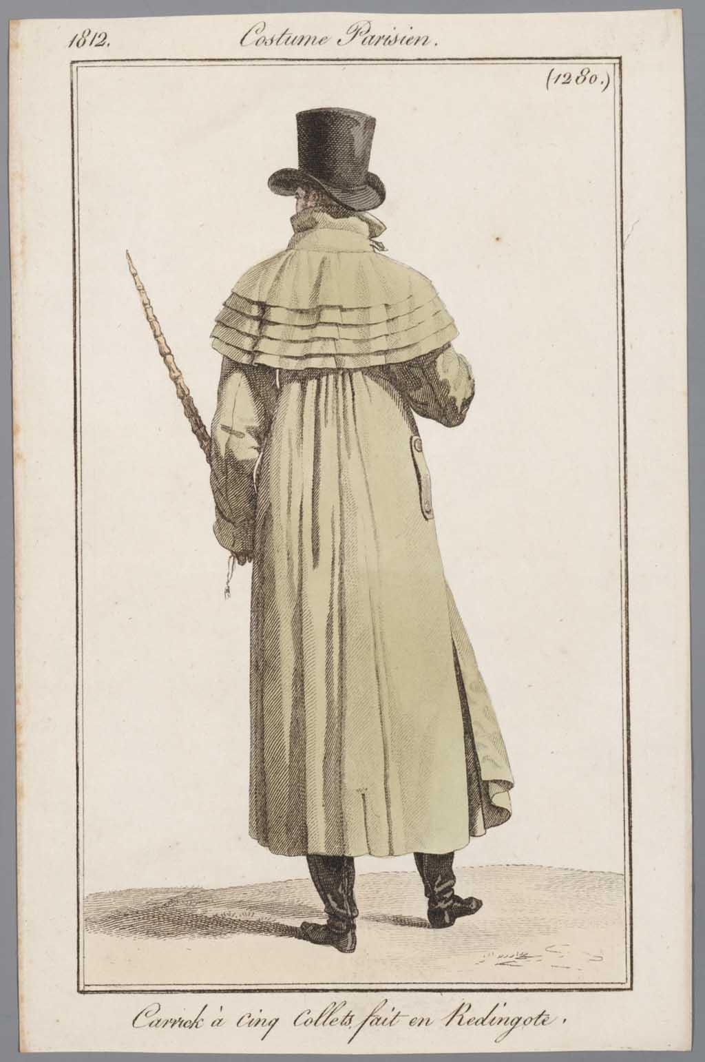Costume Parisien, nr. 1280: Carrick à cinq Collets fait en Redingote