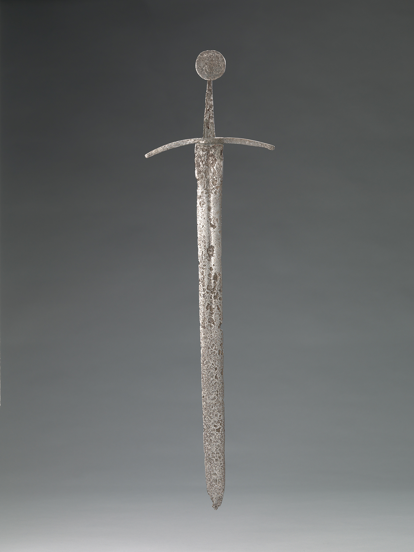 Zwaard  Soort object: bodemvondst wapen (voor jacht of strijd) zwaard ijzer   Identificatie KB 1617   Datering 1490   Collectie Amsterdam Museum
